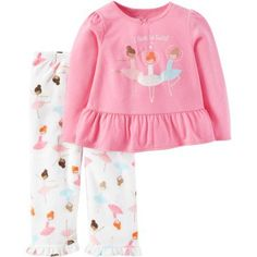 Child of Mine By Carter's Baby Toddler Girl Pajamas 2 Pieces, Size: 6 - 9 Months, Pink