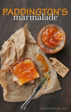 Make this classic marmalade recipe that Paddington would love to use in his sandwiches! http://inliterature.net/by-book/paddington/2017/07/paddingtons-marmalade.html