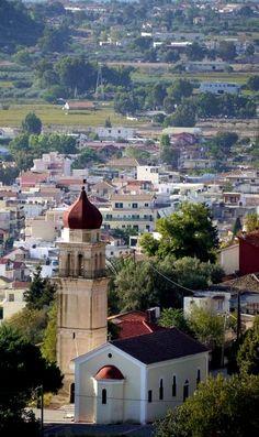 Neighborhood of Zante town, Zante Island (Zakynthos), Greece