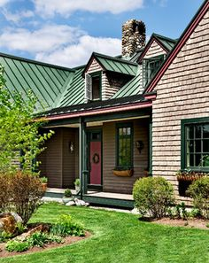 Green Metal Roof Design Ideas, Pictures, Remodel and Decor Ideas for siding with our green metal roof