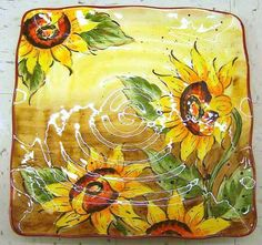 hand painted sunflower dishes | Sunflower motif Tumbler | Browse and Shop for Sunflower motif