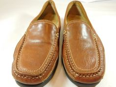 Men's Dockers Catalina Saddle Tan Leather Moc-Toe Loafers Size 10.5M #Dockers #LoafersSlipOns