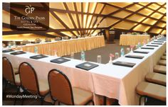 Enhance your meeting experiences with our state of the art conference room, and infuse energy and creativity into your ventures at The Golden Palms Hotel & Spa, Colva. Palms Hotel, Hotel Spa, Hotel Meeting, State Art, Table, Goa, Conference Room, Creativity, Home Decor