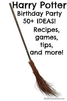 This is the mecca of Harry Potter party ideas! You will find Harry Potter recipes, games, tips, and more! Every Harry Potter fan's dream and even a baby harry potter baby to boot!