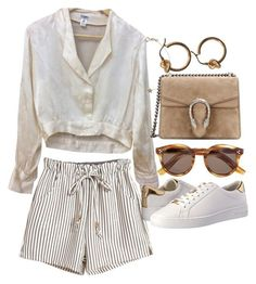 """Untitled #21707"" by florencia95 ❤ liked on Polyvore featuring Chanel, Gucci, Kismet, MICHAEL Michael Kors and Illesteva"