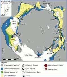 awesome Lake Siljan Sweden Map