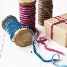 Oooo!!!!  velvet ribbon: Velvet ribbon in beautiful colours.  So soft with subtle elegance.