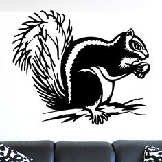 Quality Squirrel with Acorn Animal Wall Sticker