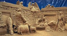 Amazingly detailed sand art of Christ's birth