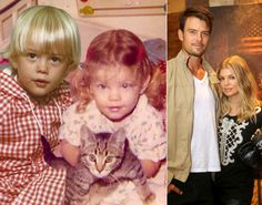 "Some of Hollywood's hottest started off as adorable kids. Can you guess these famous faces before they were stars? ... In order to announce their first pregnancy, Fergie took to Twitter to share this adorable mash-up of herself and hubby Josh Duhamel as kids. ""Josh & Me & BABY makes three!!! #mylovelybabybump"" the 37-year-old Fergalicious singer Tweeted on Feb. 18, 2013 along with the photo."