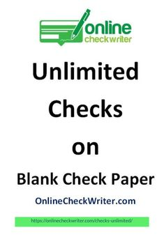 Switch from checks unlimited or preprinted checks. Get blank check paper - print checks online on demand. Best Email Marketing Software, Online Marketing, Order Checks Online, Blank Check, Writing Software, Bitcoin Faucet, Check Email, Job Portal, Business Checks