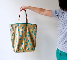 Upcycle Style: Spotty Gold Tote Bag