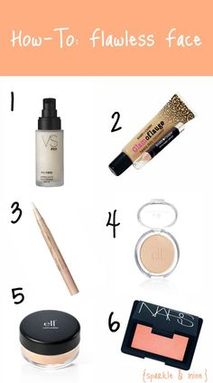 Makeup tips + product suggestions to achieve a flawless face. Most of the products are super affordable too- 5 dollar mineral concealer? I think yes!
