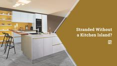 Stranded Without a Kitchen Island?: When it comes to home improvements, there ar. Stranded Without a Kitchen Island?: When it comes to home improvements, there are few things that are requested more often than kitchen islands. Modern Kitchen Island, Kitchen Islands, Best Concrete Paint, Closet Storage Systems, Patio Plans, Small Refrigerator, Building A Fence, Cool Deck, Master Bath Remodel