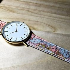 Map watch watches women mens ladies leather watch vintage style map watch watches women mens ladies leather watch vintage style jewelry accessories spring fashion gold rose gold silver gift unique watch black and gumiabroncs Image collections