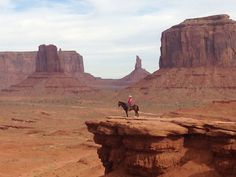 When I saw this Navajo man ride his horse out to the point, I couldn't imagine a more iconic image of Monument Valley. Discovered by Carmie Pennington at Monument Valley Navajo Tribal Park, Navajo County, Arizona