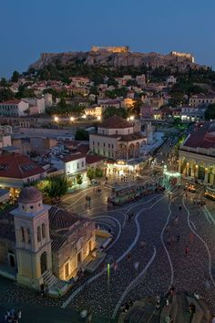 Monastiraki Square, Athens, Greece Travel Europe Share and enjoy! Places Around The World, Oh The Places You'll Go, Places To Travel, Places To Visit, Around The Worlds, Travel Destinations, Dream Vacations, Vacation Spots, Wonderful Places