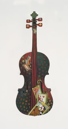 Painted violin by Miriam Slater