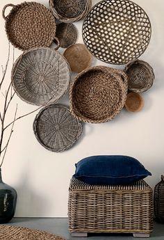wicker basket display