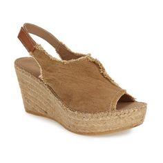 """Toni Pons 'Lugano' Espadrille Wedge Sandal, 3"""" heel ($139) ❤ liked on Polyvore"""