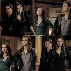 The screen caps for this scene are so confusing trying to tell Kat and elena apart but you can tell by the way they stand 😍 #ninadobrev #paulwesley #thevampirediaries #tvd #katherinepierce #elenagilbert #stefansalvatore #steferine #stelena