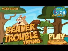 Beaver Trouble Typing - Save The Baby - Free Educational Kids Game By BOKGames
