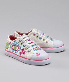 Pablosky White Butterfly Slip-On Sneaker by Pablosky on #zulily today!