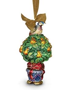 Partridge-in-a-Pear+Tree+Christmas+Ornament+by+Jay+Strongwater+at+Bergdorf+Goodman.