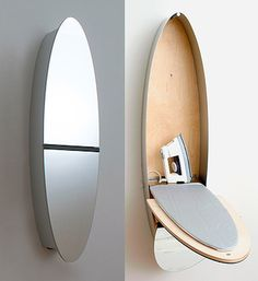 I would actually iron if i had this !!!!!  Hidden ironing board