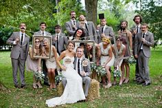 #7 Wedding Party (Fun idea--SO much better than the regular hum-drum wedding party pics)
