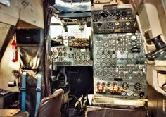The Flight Engineer's position in the Avro Shackleton, a place that would have changed very little since the design of the Manchester or Lancaster Avro Shackleton, Royal Air Force, Cutaway, Lancaster, Airplane, Planes, Boats, Scale, Aircraft