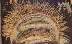 schrijfdans egel; bogen en stekels op muziek uit de methode Schrijfkriebels Outdoor Classroom, Eyfs, Art For Kids, Seasons, Drawings, Winter, Painting, School, Hedgehog