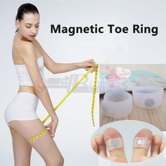 2 PCS Pair Slimming Health Silicon Magnetic Foot Massager Massge relax Toe Ring for Weight Loss Relaxation Care Tools