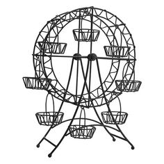 Metal Ferris Wheel Cupcake Stand Holder 8 Cupcakes by PartySpin