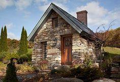 Tiny stone house. from: http://bensonwood.com