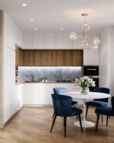 fine The Argument About White Kitchen Interior Designs with Modern Style If your kitchen is actually huge then utilize a region of the kitchen as dining ar. Kitchen Room Design, Room Interior Design, Modern Kitchen Design, Living Room Kitchen, Home Decor Kitchen, Dining Room, Apartment Kitchen, Apartment Interior, Apartment Design