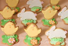 Easy Easter Snacks to Make That Are So Adorable Easter Cookie Recipes, Easter Snacks, Easter Cookies, Holiday Cookies, Sweet Cookies, Cute Cookies, Cupcakes, Easter Biscuits, Galletas Cookies