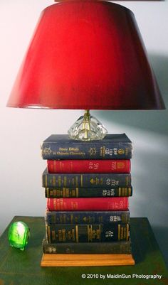Instead of throwing things away,  think about repurposing them in the garden or as an indoor planter.  Or just think about repurposing them in general.  M repurposed a stack of old science books that a company was going to throw away.  He made them into a very cool lamp that we use in our library/guest room (some people — such as our granddaughter — know it as The Princess Room).