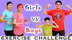 EXERCISE CHALLENGE Boys vs Girls | #Funny Family Challenge Healthy Game | Aayu and Pihu Show-#Aayu #Boys #challenge #exercise #exercisevideos #exercisevideosforkids #exercisevideosforseniors #Family #funny #Game #girls #healthy #Pihu #Show Boys Vs Girls, Games For Girls, Funny Family, Family Humor, Family Fitness, Moral Stories, Workout Videos, Exercise Videos, Family Show