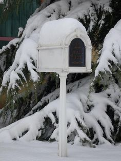 Mailbox in Snow by ToGa Wanderings, via Flickr