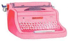 I want a portfolio header with a pink typewriter. Too cliche?