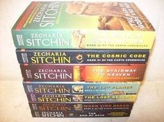 Complete Collection Set Books 1-7 (The Earth Chronicles, The 12th Planet, The Stairway to Heaven, The Wars of Gods and Men, The Lost Realms, When Time Began, The Cosmic Code, The End of Days) by Zecharia Sitchin, http://www.amazon.com/dp/B0074MWT3S/ref=cm_sw_r_pi_dp_4duZpb0Q176M9