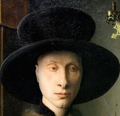 Jan van Eyck, c.1390-1441, Flemish, Portrait of Giovanni Arnolfini and his Wife (detail), 1434. Oil on oak. National Gallery, London. Early Netherlandish painting.