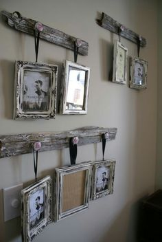 Upcycle. Driftwood and knobs into picture holders