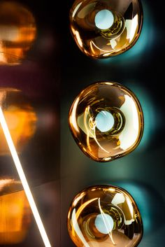 British designer Tom Dixon will launch several new lighting collections at Milan design week, including Cut, which casts a kaleidoscopic reflection.