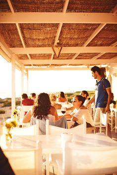 Beach Club 10.7, overlooking Migjorn beach, Formentera, Spain. Photo by: Chloe Mallett