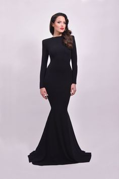 2957a504da473 Black Prom Dress,Mermaid Prom Dress,Simple Prom Gown,Backless Prom Dresses,Sexy  Evening Gowns,2018 Evening Gown,Open Back Long Sleeves Dress For Teens ...
