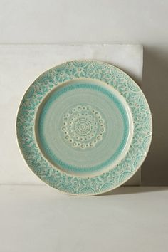 Old Havana Salad Plate #anthropologie --- I really like this place setting, could probably replicate this too on my wheel