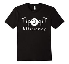 Amazon.com: Tip to Tip Efficiency Shirt, Funny Nerdy TV Show Gift: Clothing