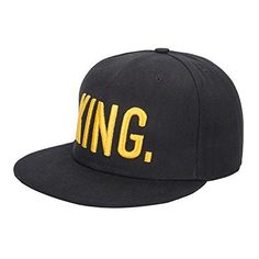 """KING and QUEEN Embroidered Hat Romantic Lovers Couples Snapback Caps Adjustable Hip-Hop Hats Everyone want to be King and Queen, So you worth to buy one.       Famous Words of Inspiration...""""Absence and death are the same - only that in death there is no..."""